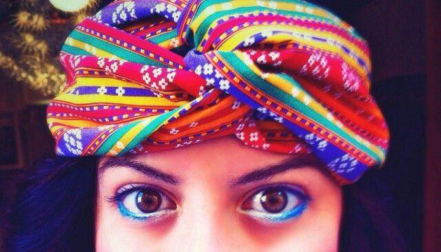 #turban #headband #cool #90's #diy #craft #HandMade