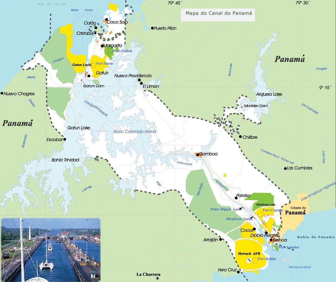 Mapa Canal Panama Panama Canal Cruise History Travel