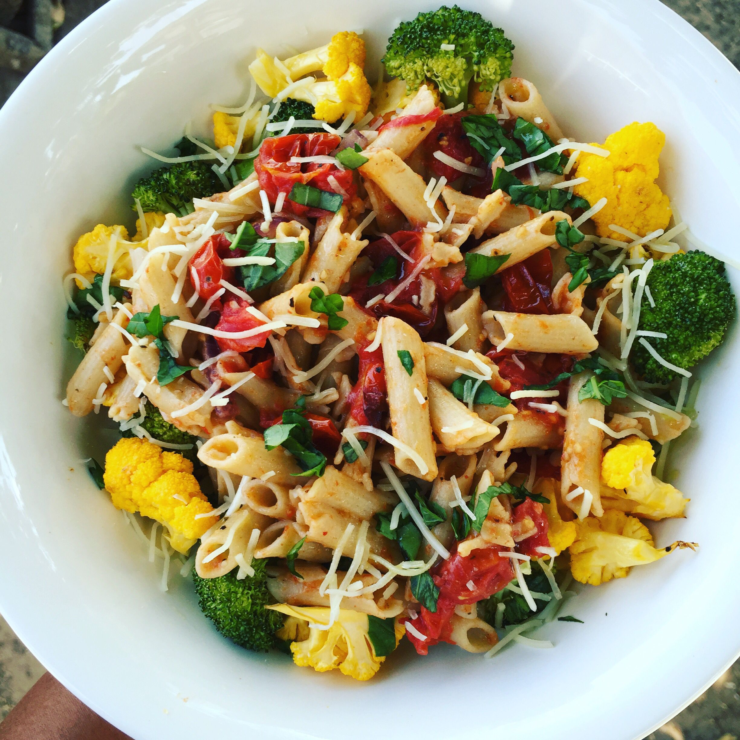 Good Afternoon lovelies!! Quinoa Pasta with Roasted Vegetables!! A very simple Lunch for the family. #over40 #mindbodygreen #healthy #colorfulfoodie #loveyourbody #organic #wholefoods #healthychoices #healthyfood #healthyfoodshare #healthylifestyles #healthyfoodporn #foodie #healthymeal #foodporn