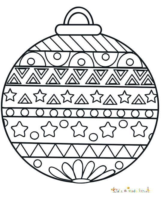 Coloriage Boule De Noel Mandala Coloriage de noel à imprimer   Coloriage boule de noel ...