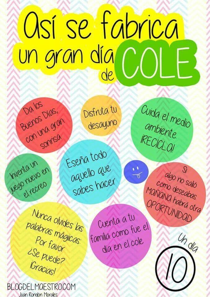 Tener Un Dia 10 En El Cole Frases Para El Aula Reglas De Clase