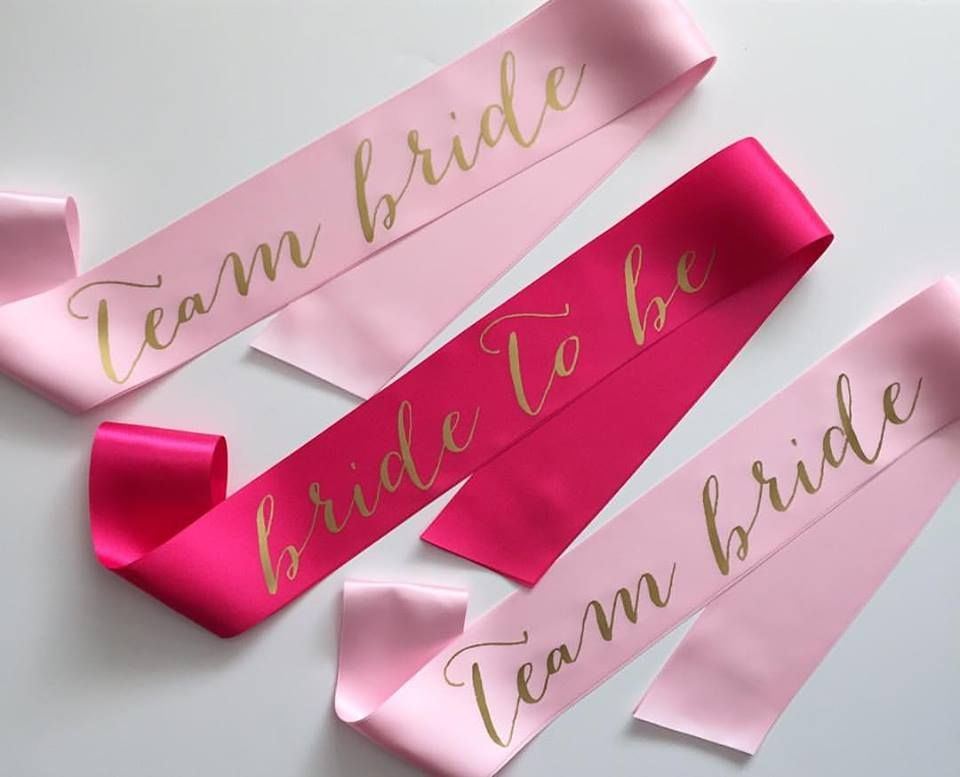 Team bride or bride to be. TONS of options when you can get a fully customizable super cute bachelorette party sash! Bridesmaids will love this and so will that engaged bestie!