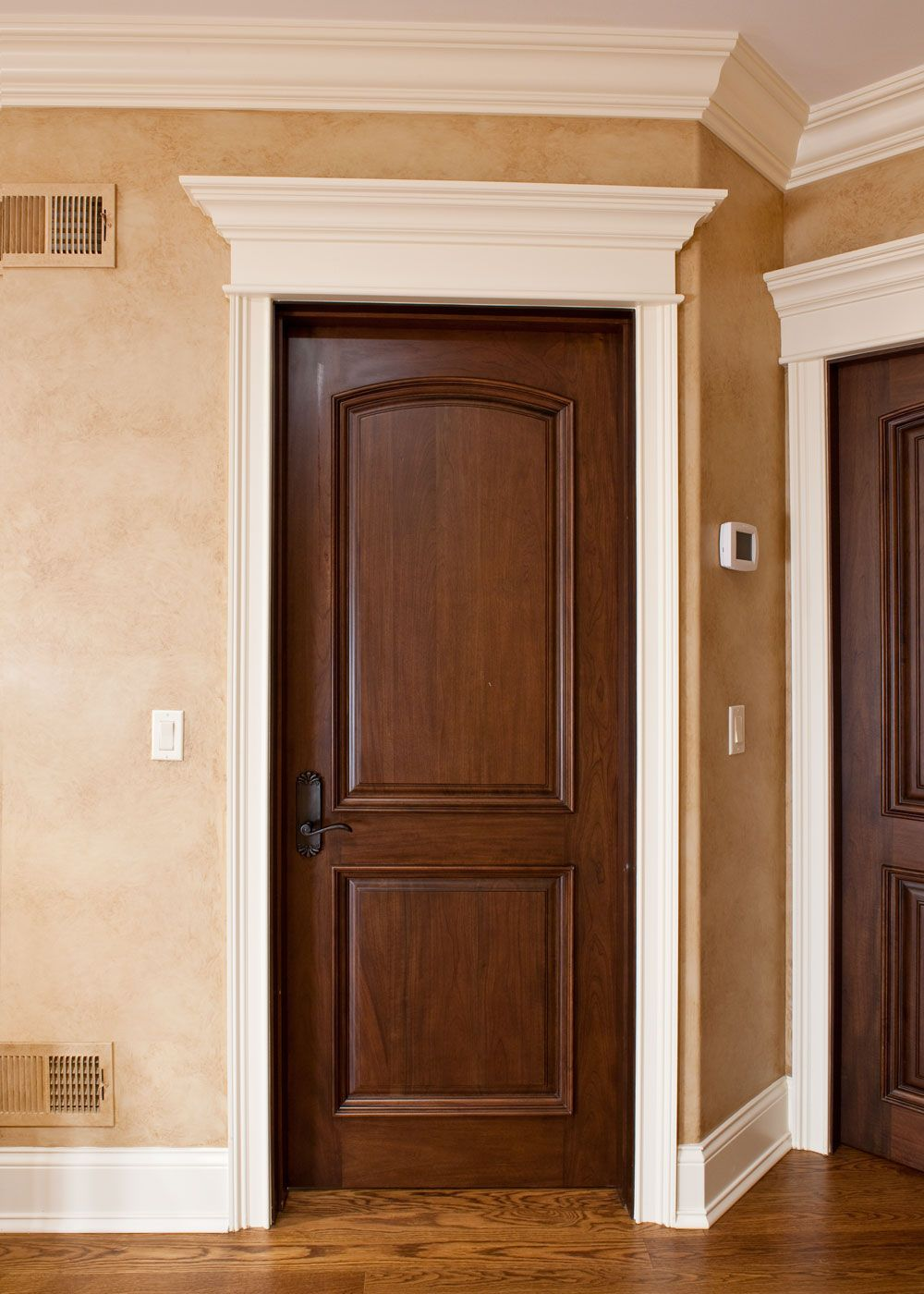 Interior Door Custom   Single   Solid Wood With Walnut Finish, Classic,  Model DBI