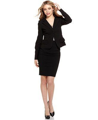 Juniors black dress suit