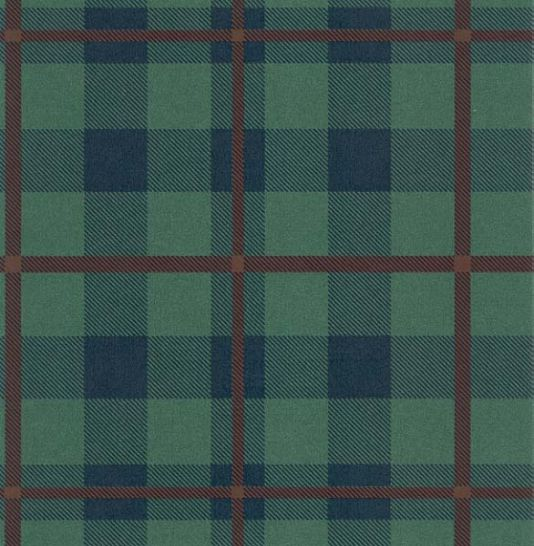 Tartan Wallpaper Green And Blue From Fabricandpapers
