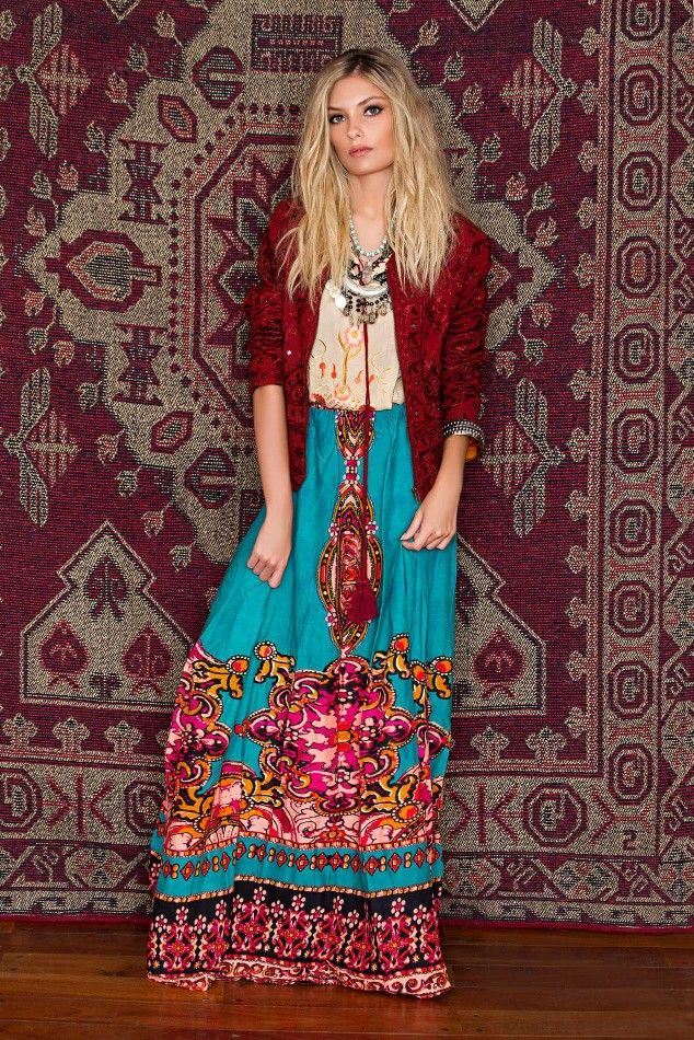 Boho gorgeous those bright colors are always my fav - Ropa de hippie ...