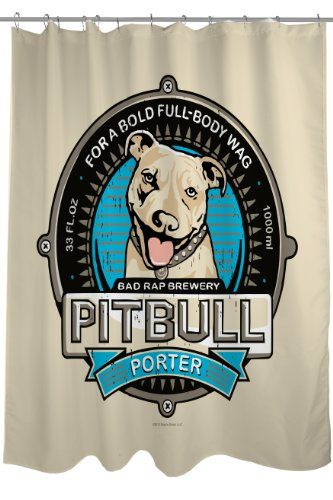 Bentin Pet Decor Pitbull Porter Shower Curtain 71 By 74inch Click On The Image For Additional Details Cool