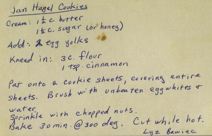 Jan Hagel Cookies ~ From my mom's recipe collection. | phil_g