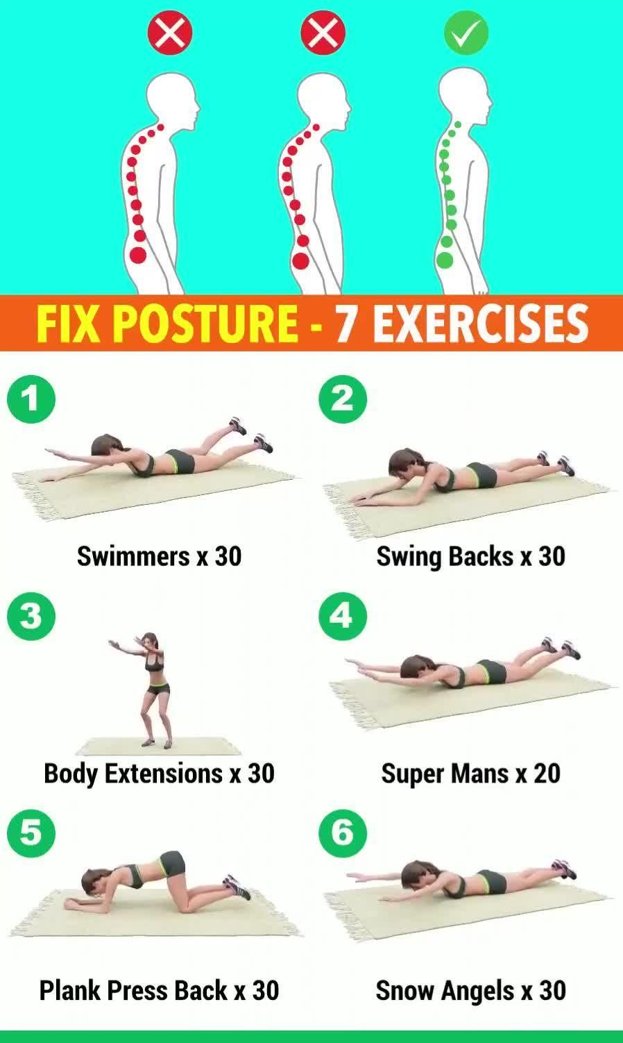 Special exercises for a straight body