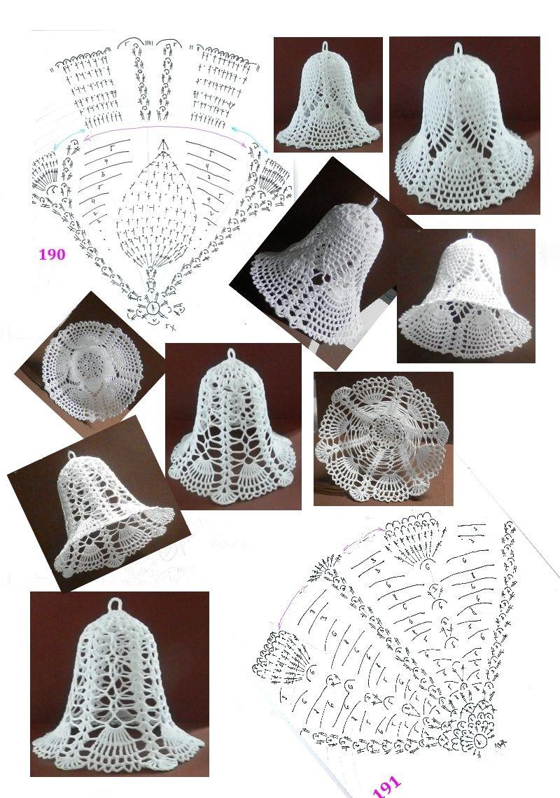 zvoneček 153, 190 - 191 | crochet Christmas & winter | Pinterest ...