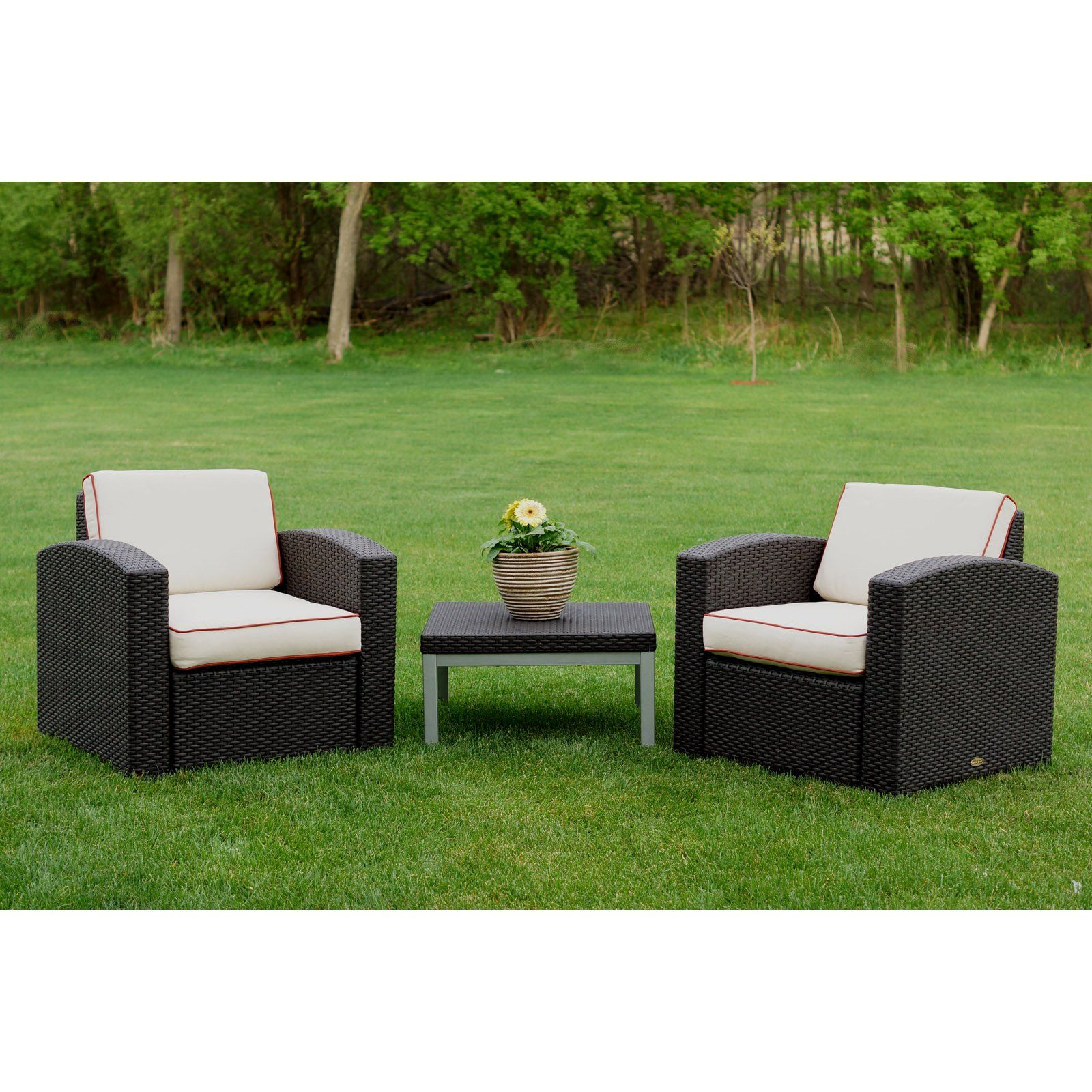 Outdoor Strata Furniture Cielo 3 Piece Chair And Coffee Table