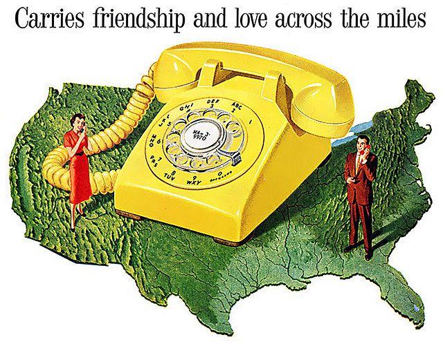 1958 Very Yellow Phone Telefono Retro Retro Y Proyectos