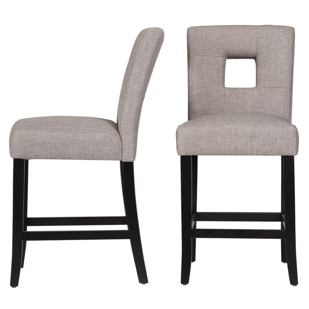 Sorrento smoke grey cushioned bar stool set of 2