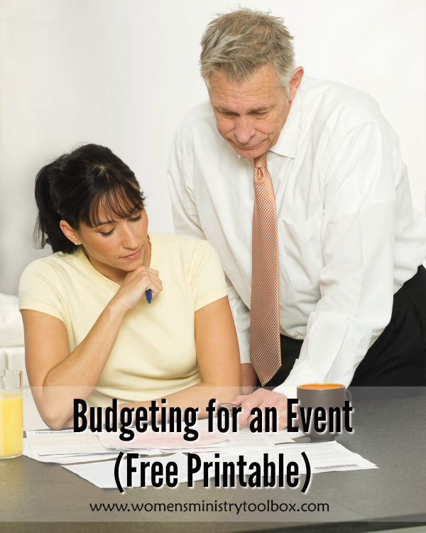 Budgeting For An Event Free Printable  Free Printable Budget