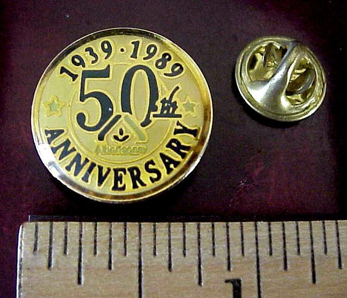 ALBERTSON S SUPERMARKET GROCERY STORE 50th ANNIV 1939-1989 EMPLOYEE PIN