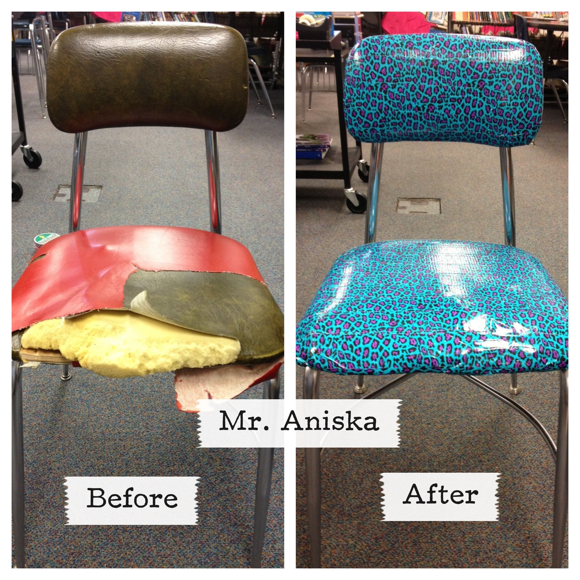 Diy Duct Tape Chair Duct Tape Diy Duct Tape Crafts Duct Tape