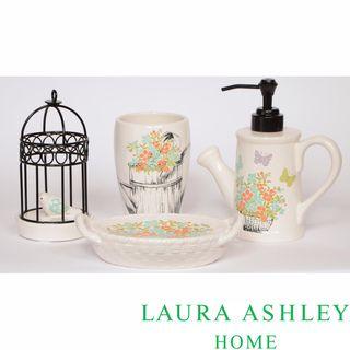 Laura Ashley Birds And Branches Bath Accessory 4 Piece Set