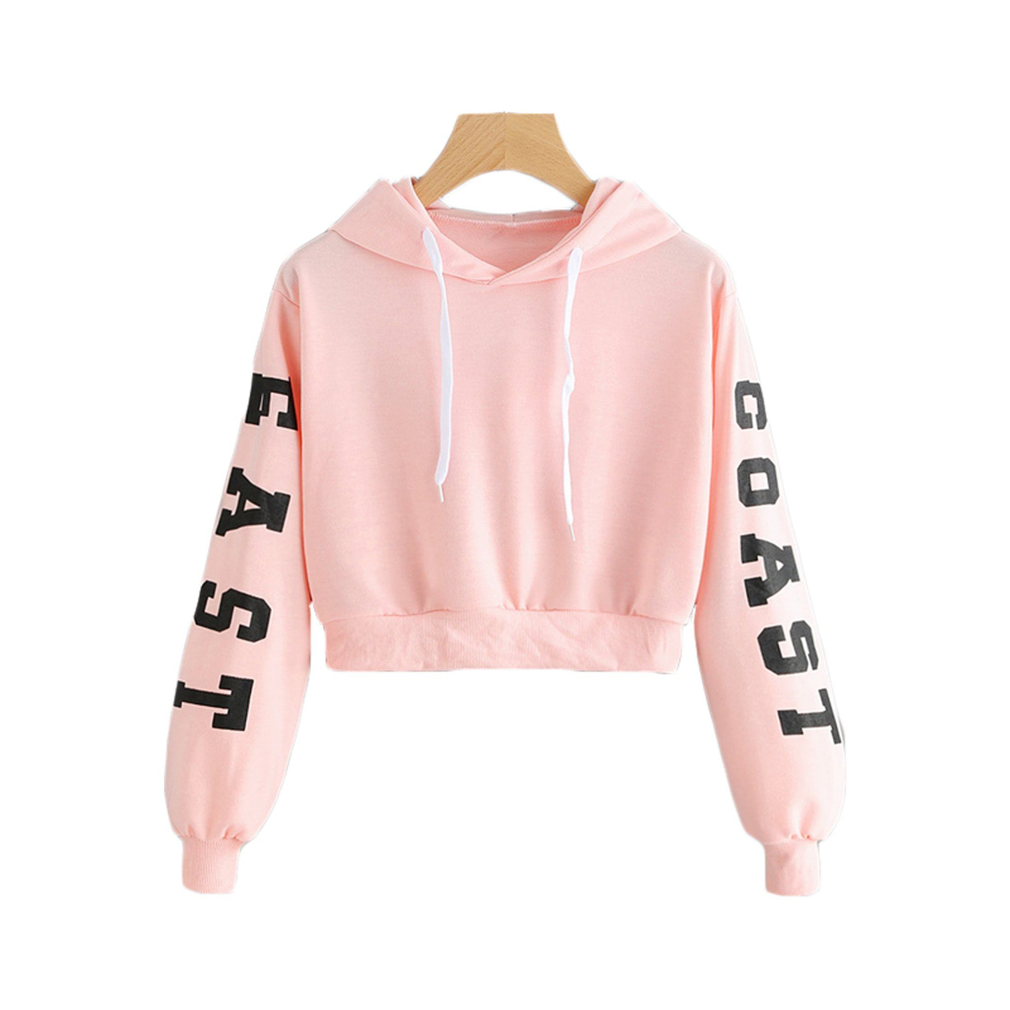 cca4801817ee Cute Casual Back to School Outfit Ideas 2018 for Teen Girls 2018 - East  Coast Queens Sweater Hoodie Hoody in Baby Pink - Lindas ideas casuales de  regreso a ...