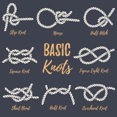 Best Yachting Illustrations, Royalty-Free Vector Graphics & Clip Art #ropeknots Set of nautical rope knots. vector art illustration #ropeknots