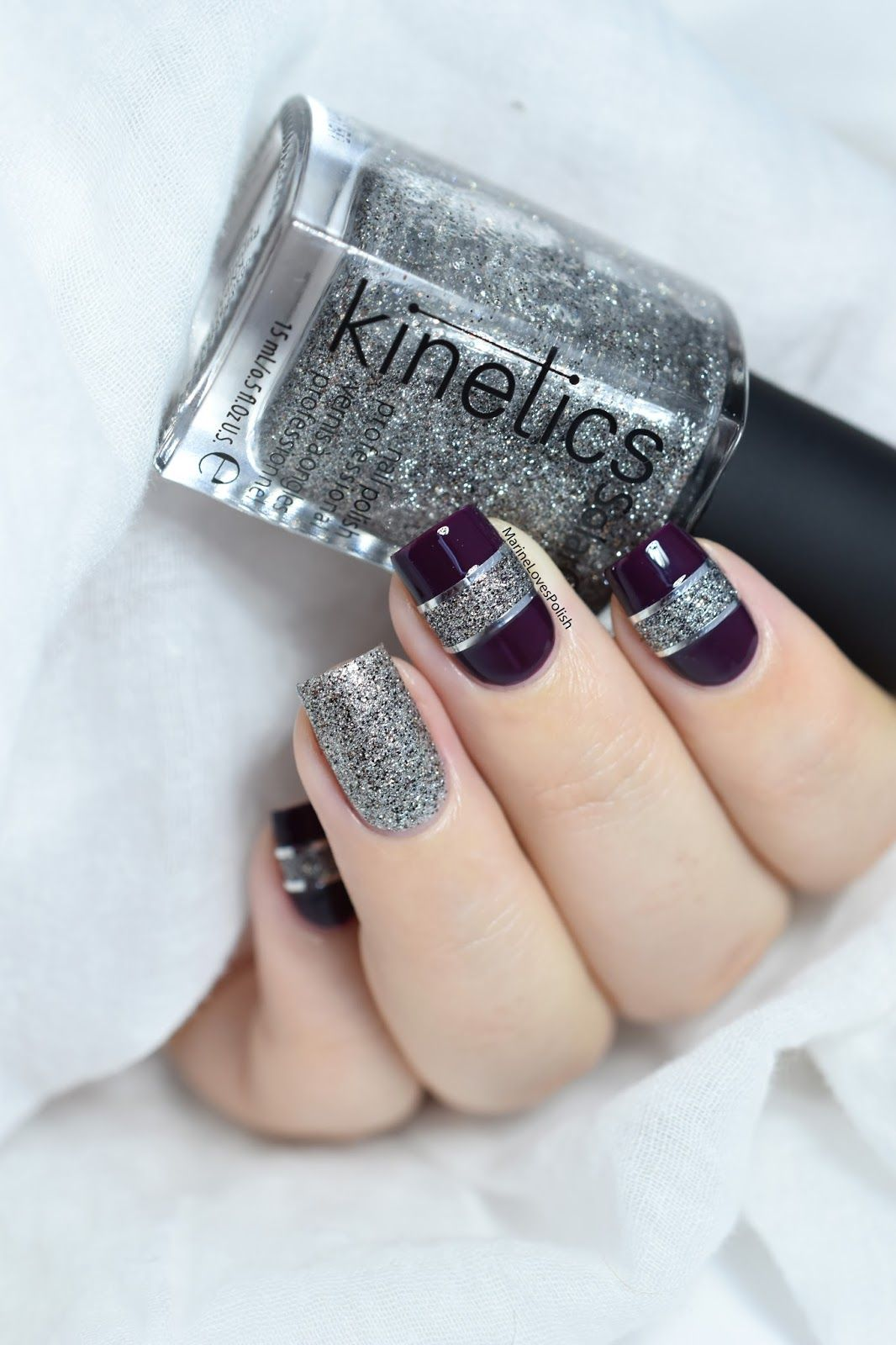 Color block nail art with Kinetics Gala The Big Party collection ...