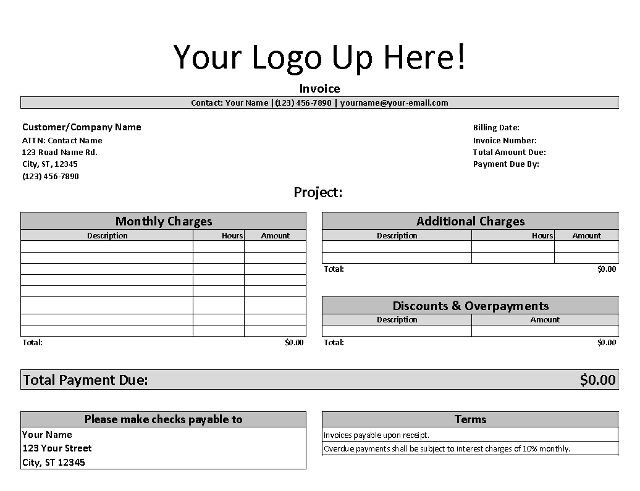 Free Invoice Template For Freelancers And Small Business Invoice Template Receipt Template Business