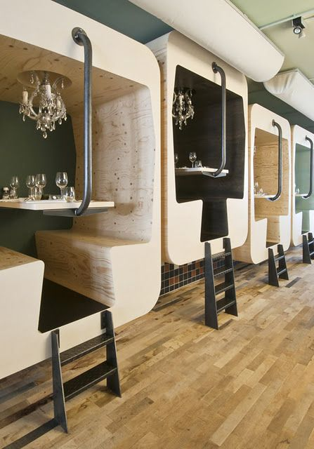 Train Car Style Restaurant Booths Interiors