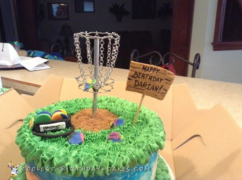 Tie Dye Disc Golf Cake With Images Disc Golf Golf Cake Golf