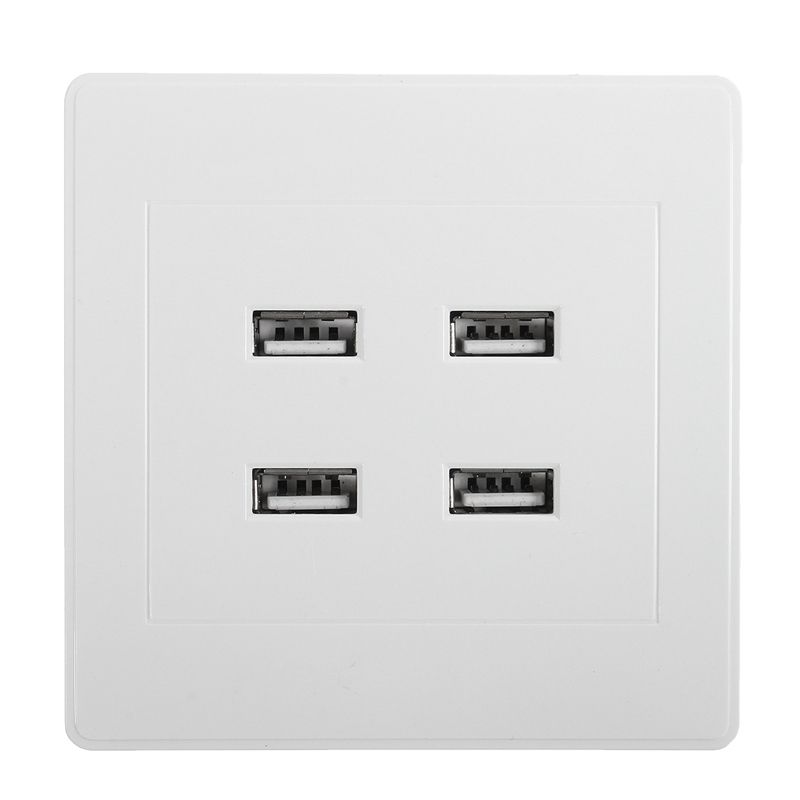 New DC 4 Ports USB 5V 3.1A Electric Wall Charger Dock Station Socket ...