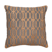 Slate Link Leather Pillow by Jamie Young