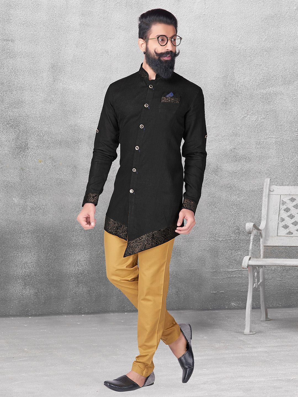 e73ec1031b Black color silk kurta suit - G3-MKS0562 in 2019   Outfit Grid ...