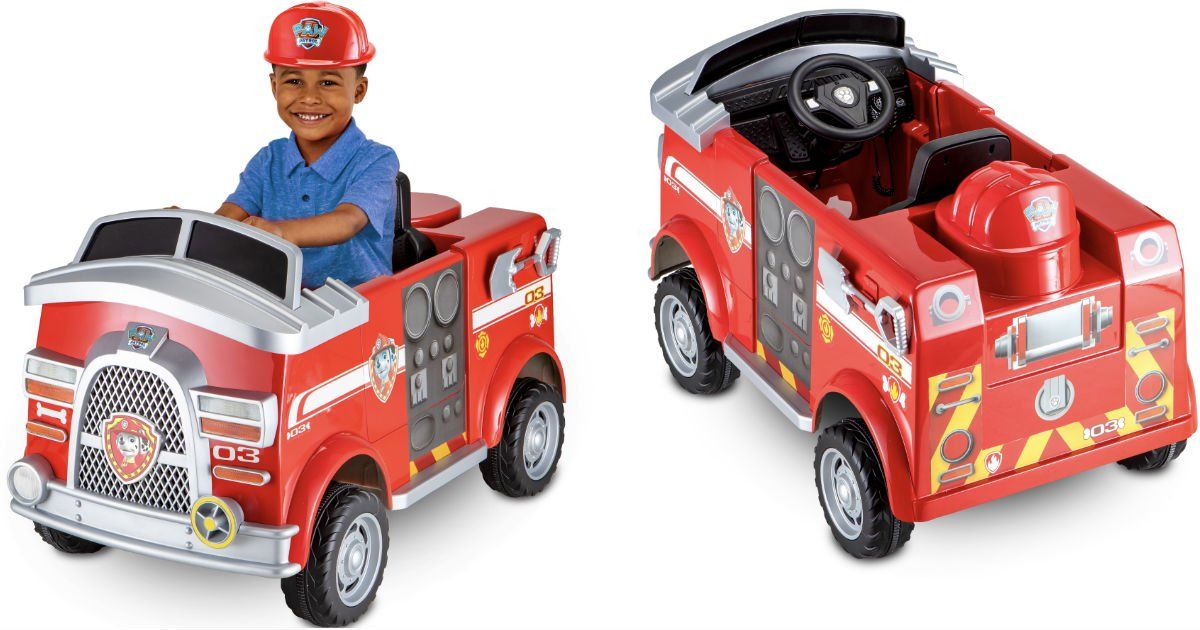 Paw Patrol Fire Truck 6 Volt Ride On Only 98 Reg 149 Shipped