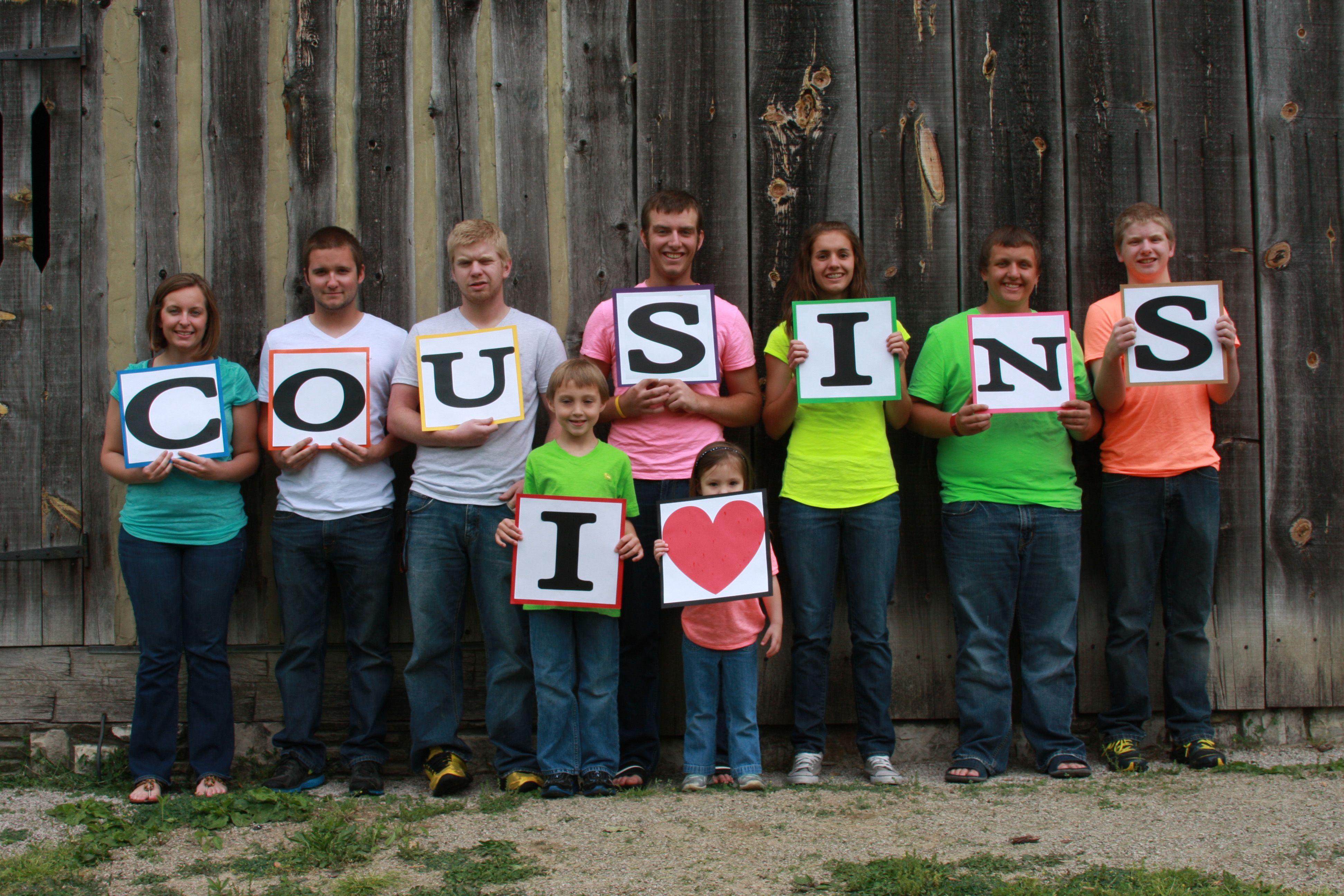 Cousins photo! Love it