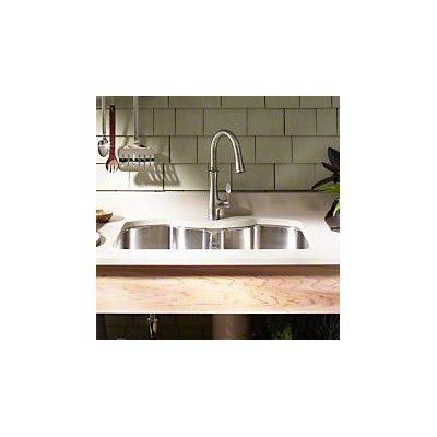 "Kohler Octave 32"" x 20-1/4"" x 9-5/16"" Under-Mount Double-Equal Stainless Steel Kitchen Sink"