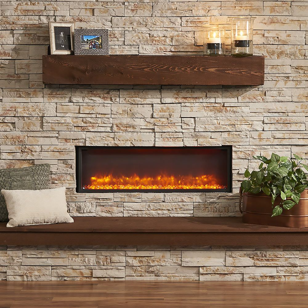 GreatCo 44 In Linear Built In Electric Fireplace GBL 44