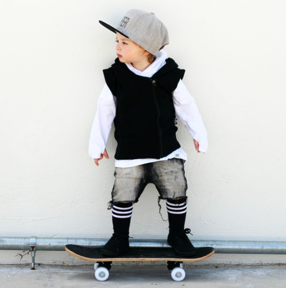 A super cool design for all little trendsetters, featuring a RAD side zipper, Handsome Ryker @rykerrabbit rocks our sleeveless hoodie available at store now!! Sizes 0-6 #hoodies #hoodieseason #kids #toddler x