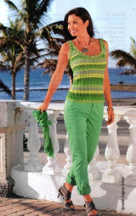 crochet | Tejin&tejin | Pinterest | Blusas tejidas, Blusas y Blusas ...