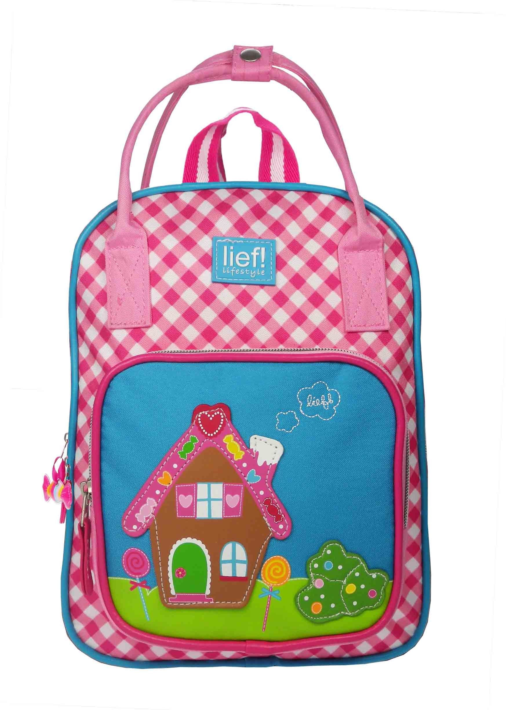 f57c89d426b Roze geruit rugzakje voor meisjes, van lief! lifestyle   Pink checked  backpack for girls, by lief! lifestyle