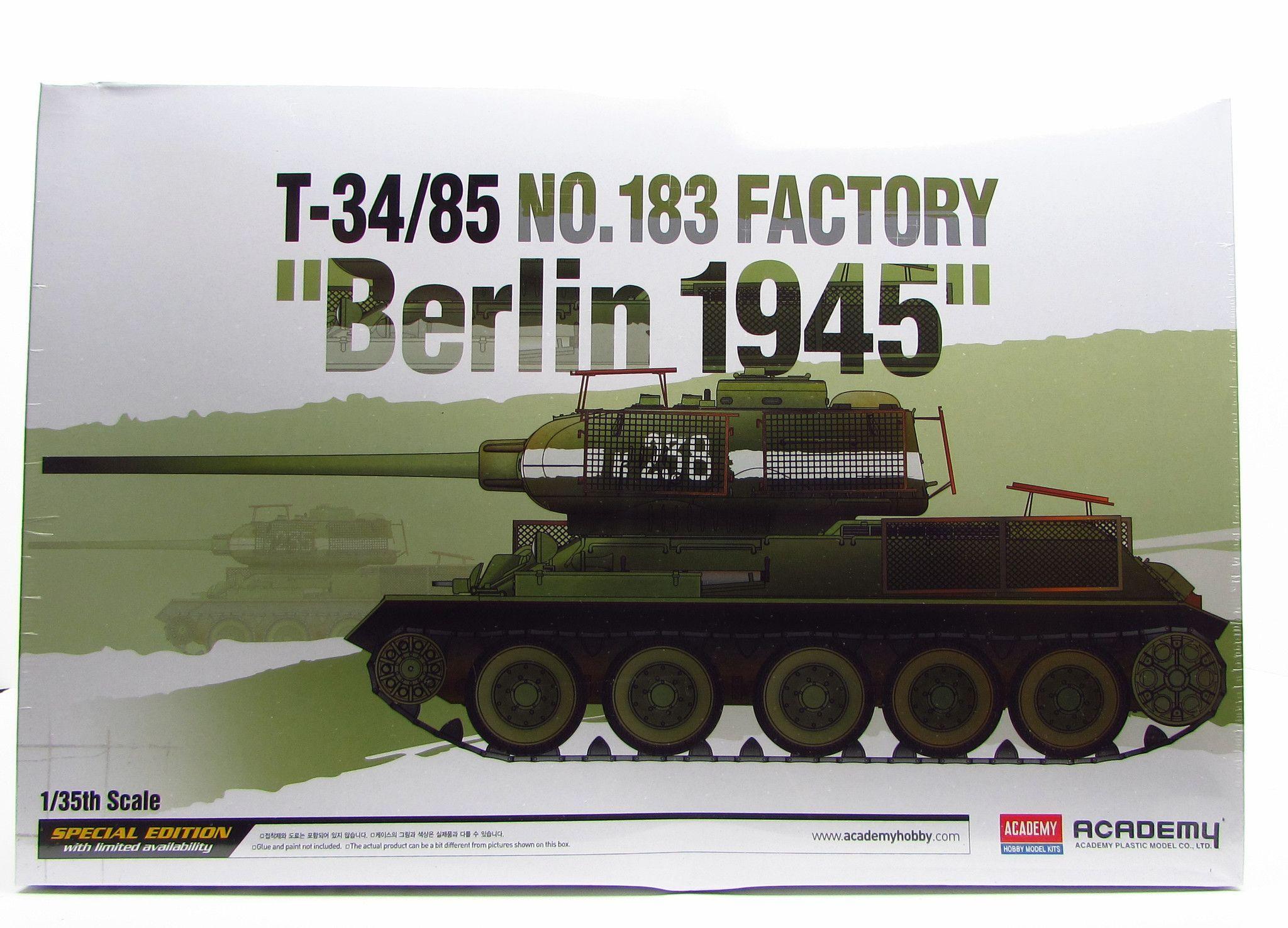 T-34/85 Factory 183 Battle of Berlin Academy 13295 1/35 New Soviet Tank