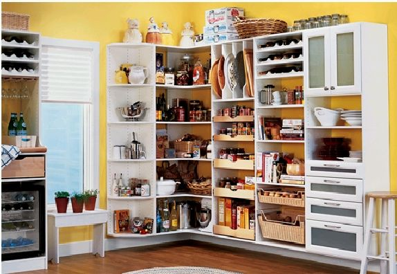 Open Pantry That We Can Sweep Under
