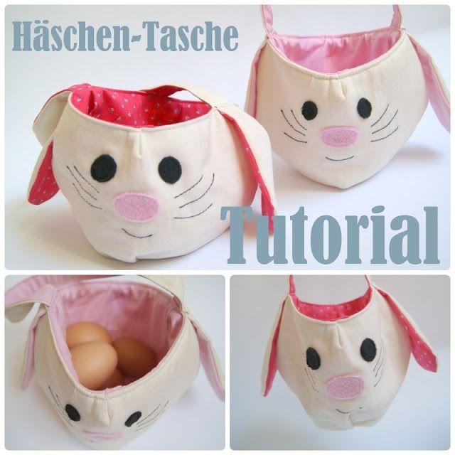 Häschen Tasche free Tutorial | Ostern | Pinterest | Ostern, Hase und ...