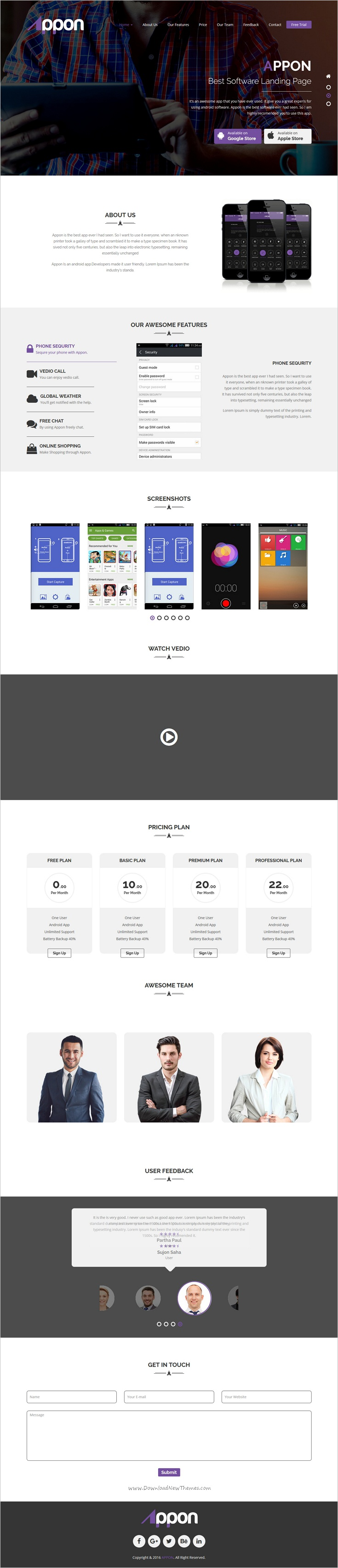 Appon is a wonderful #responsive 3in1 HTML5 #Bootstrap template for app #landing page website download now➩ https://themeforest.net/item/appon-html5-app-landing-page/19174281?ref=Datasata