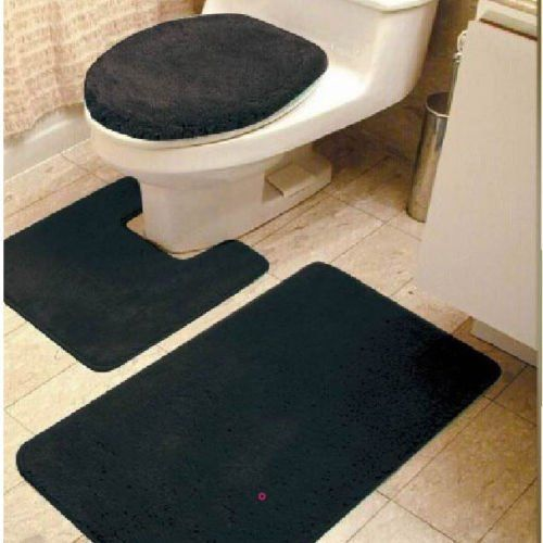Gorgeoushomelinen 3 Piece Black 6 Bathroom Set Bath Mat Contour