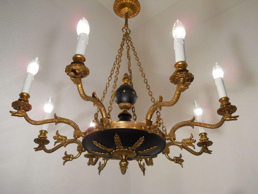 Kronleuchter Antik Frankreich ~ Kronleuchter empire bronze schwäne frankreich ca furniture