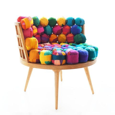 RECYCLED SILK CHAIR, OTTOMAN & STOOL | Muebles | Pinterest ...