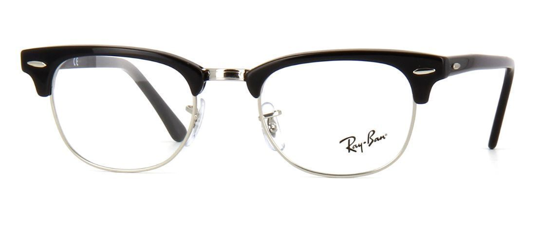 d771e624c9 Ray Ban Eyeglasses Black RB5154 2000 51-21-145 With Case