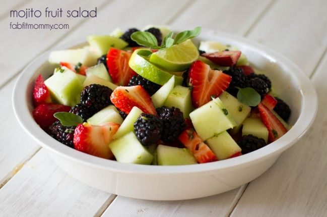 """Mojito"" Fruit Salad"