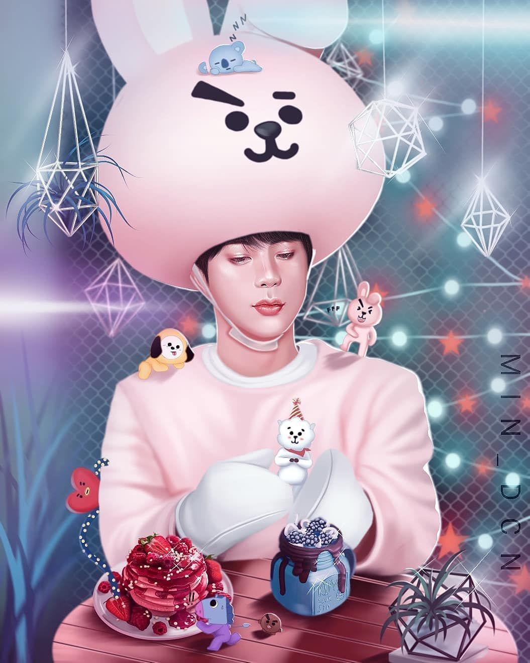 """Lisa's lilies on Instagram """"HAPPY BIRTHDAY Kim SeokJin"""