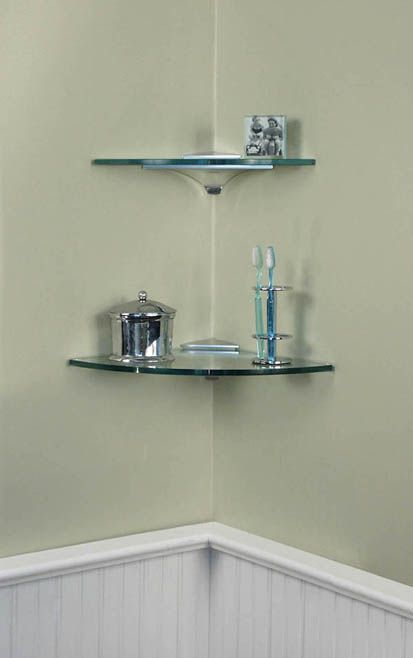 Delightful Corner Glass Shelves