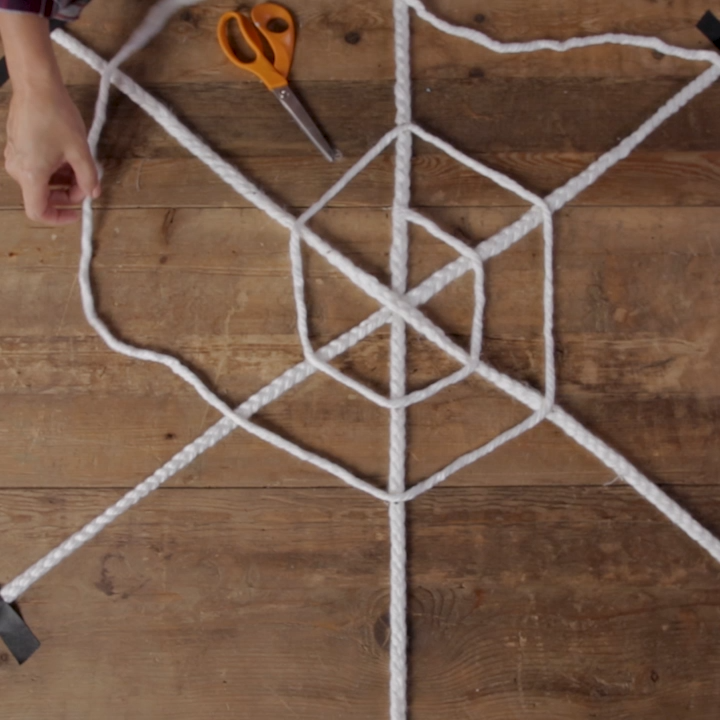 Make this Huge Braided Spiderweb Just in Time for Halloween