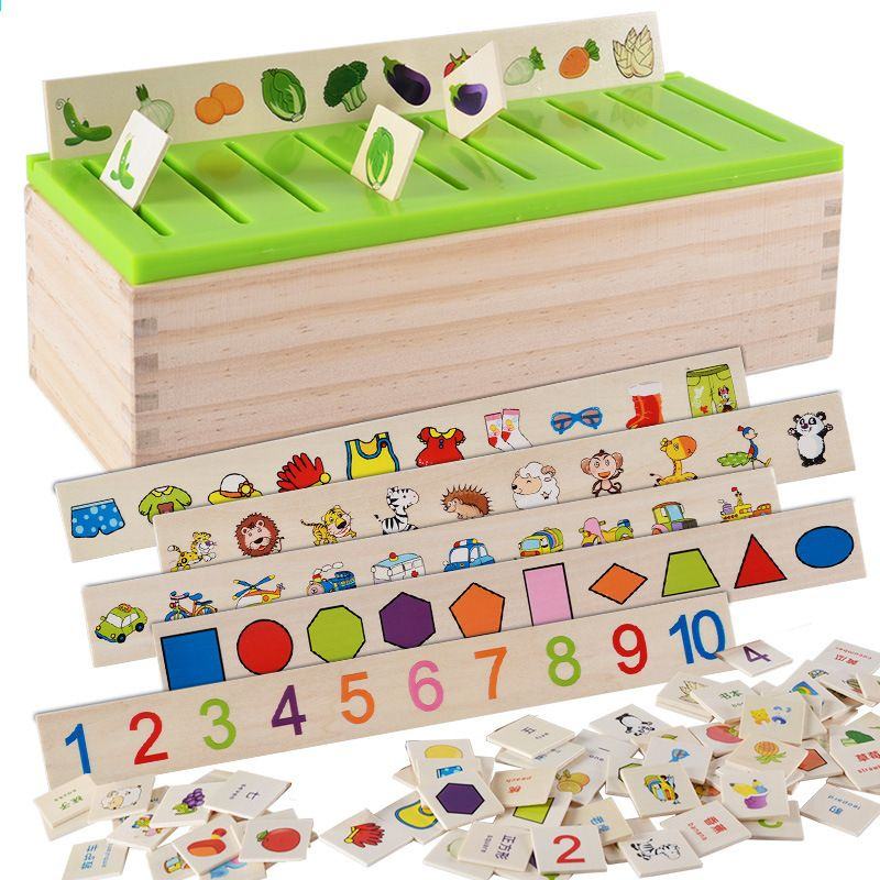 Learning Educational Wooden Classification Box Matematyka ...